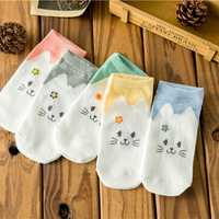 Women Cute Cotton Cartoon Socks Candy Bar Antenna Catwoman Invisible Socks