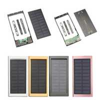 10000mAh Portable Solar Power Bank Dual USB Fast Charger DIY Case For Mobile Phone