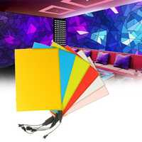 LED EL Electroluminescent Wire Neon Light Tape for Party Home Car Decoration DC12V 210 x 148 mm