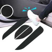 4pcs Carbon Fiber Car Door Anti Kick Protective Film Stickers for For Hyundai IX25 2015-2017