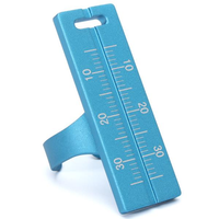 Aluminum Alloy Plamer Finger Ruler Measurement Tool Ring Ruler Measuring Instrument