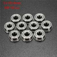 10pcs MF105ZZ 5x10x4mm Flanged Ball Bearings Double Shielded Ball Bearing