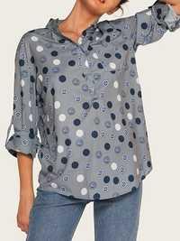 Women Elegant Polka Dot Long Sleeve Shirts