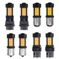 Pair 447LM 4.4W Amber LED Car Reversing Backup lights Turn Bulb Lamp 3157 7443 1156 1157 2835