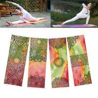 KALOAD 183*63cm Thick Micro Fiber Printed Yoga Towel Non-slip Anti-bacteria Sweat Absorbent Fitness Yoga Mats