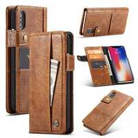 Caseme Protective Case For iPhone XS Max Vintage Wallet Card Slots PU Leather Cover