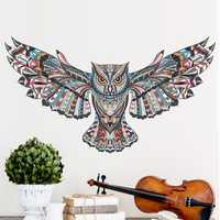 Chic Owl Living Room Bedroom Background Wall Sticker Waterproof Removable Stickers Home Decorations