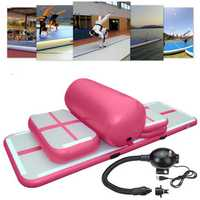 5pcs Inflatable Gymnastics Practice Air Track Floor Tumbling Pad Exercise Training Mat Set
