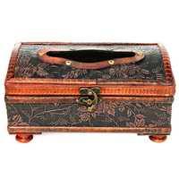 Retro Vintage Wooden Tissue Box Rectangular Paper Cover Case Napkin Holder Gift Kitchen Storage Rack