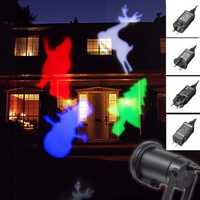 Waterproof Moving Colorful Snowman Laser Projector Stage Light Christmas Outdoor Landscape Lamp