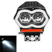 20W 12/80V IP68 2000LM LED Motorcycle Angel Eyes USB Headlight Spotlight