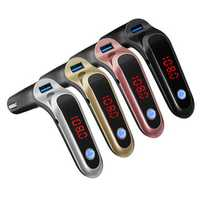 Wireless bluetooth S7 Car FM Transmitter Modulator Car Kit MP3 Audio Player With LCD Display