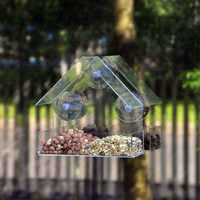 Honana HG-BF1 Gradening Transparent Bird Feeder Quality Acrylic Decorative Bird Feeder