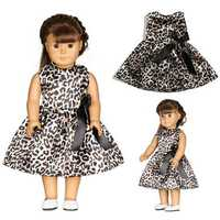 Leopard-print Doll Dress Handmade Clothes For 18inch American Girl