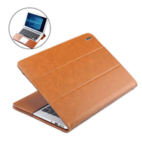 PU Leather Bracket Laptop Bag Liner Sleeve Protective Case for Apple Macbook Pro/Air 13/15 Inch