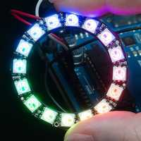 Ring 5V 16x 5050 RGB LED Board with Integrated Drivers Module For Arduino