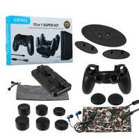 OIVO 15 in 1 Advanced Gaming Kit Game Console Accessories for PS4 Slim/Pro