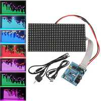 16X32 Colorful Music Spectrum STM32 LED Lights Frequency Display Assembled Dot Matrix Board