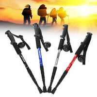 55-110cm Aluminum Alloy Anti Shock Telescopic Trekking Pole Outdoor Cycling Fishing Hiking Stick