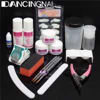 Professional Acrylic Nail Art Manicure kit False Tips Cutter Sanding Nails Files Tool Set