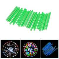 BIKIGHT 12Pcs 75mm Bicycle Wheel Reflective Sticker Wheel Rim Reflector MTB Mountain Bike Night Warning Reflective Tube Stick