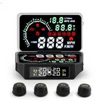 OBD2 TPMS Sensor Temperature Tire Pressure Monitor System Digital Display Car Excess Speed Alarm