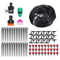 DIY 25M Drip Irrigation System Self Plant 30pcs Dripper Watering Garden Hose