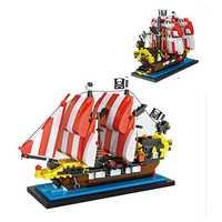LOZ Black Seas Barracuda Pirate Ship Mini DIY Assembling Building Block Brick For Kids Gift