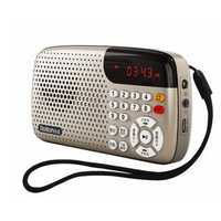Rolton W105 Portable Mini FM Radio Speaker Music Player Tf Card With LED Display And Flashlight
