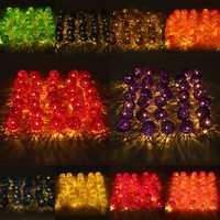 35 LED Rattan Ball String Light Home Garden Fairy Colorful Lamp Wedding Party Xmas Decor