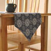 Ethnic Style Cotton Linen Tableware Mat Table Runner Heat Insulation Bowl Pad Tablecloth Desk Cover