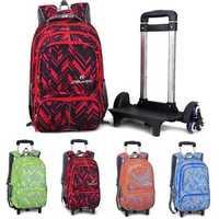 25L Kids Children Wheels Travel Trolley Luggage Backpack Student School Bag