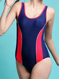Sporty Patchwork Tight-fitting One Piece wimsuit