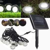 8 in 1 Solar Power LED Waterproof Underground Light Outdoor Garden Path Lamp