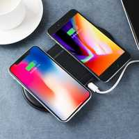 Qi Wireless Charger Fast Charging Dual Charging Pad Phone Holder For iPhone Samsung Huawei Xiaomi