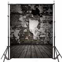 5x7FT Wooden Brick Theme Photography Background Vinyl Fabric Studio Backdrop 1.5x2.1m