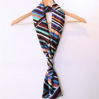 Women Lady Double Layer Chiffon Scarf Vintage Style Printing Long Elegant Scarves Towel