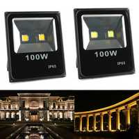 100W Waterproof LED Ultra Thin Flood Light Outdooors Garden Spot Lightt Landscape Lamp