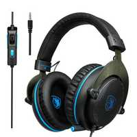 Sades R3 Gaming Bass Surround Stereo Over Ear Game Headset with Microphone Volume Control