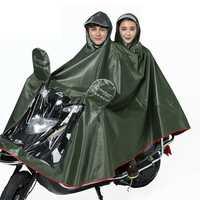 Double Motorcycle Scooter Men Women Rain Coat With Clear Visor Electric Bike 4XL