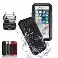 Aluminum+GEL+PE Waterproof Shockproof Case For iPhone 7 & 8