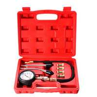 Automotive Petrol Engine Compression Tester Test Kit Gauge Car Motorcycle Tool