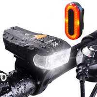 XANES SFL-01 600LM XPG + 2 LED Bicycle Smart Sensor Bike Front Light STL03 100LM IPX8 Bicycle Taillight Set