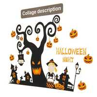 Halloween Festival Sticker Design Mural Home Wall Decal Decoration