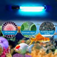 Aquarium UVC Sterilizer Lamp Light Submersible UVC Germicidal Disinfection Lamp Waterproof Fish Tank UV Lamps Dropshipping