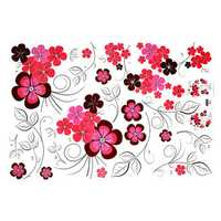 Removable Flowers Mural Wall Sticker Decoration Home Living Room Decor Art DIY