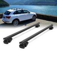 120cm Universal Aluminum Car Roof Rack Locking Cross Bars Anti Theft Lockable