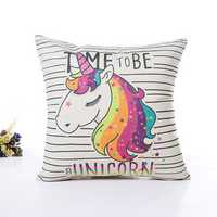 Unicorn Pillow Case Polyester Home Throw Pillows Soft Decorative Cushion Cover For Sofa Chair Pillow Cover