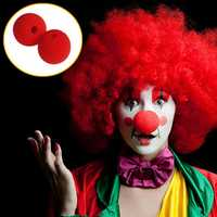 Wacky Dress Red Sponge Clown Nose Party Stage Supplies