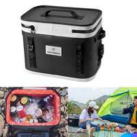 ROCKBROS 20L Food Storage Ice Bag Outdoor Picnic Bag Car Refrigerator Bag Camping Keep Cold 65hours Above